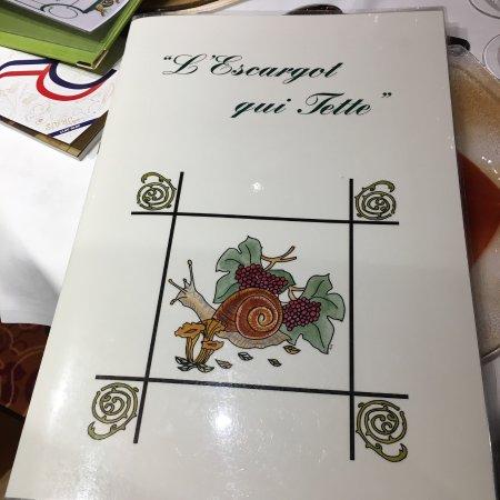 Restaurant l'Escargot Qui Tette : Une jolie carte !