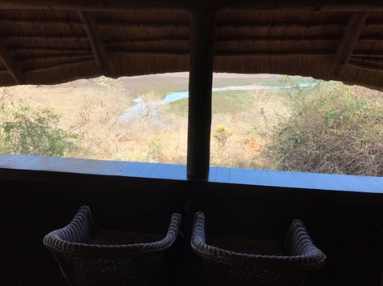 Pongola, South Africa: View of the river plain from the chalet deck