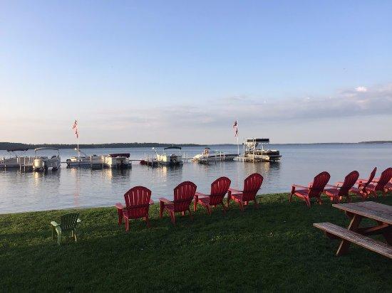 Brainerd, MN: chairs, lake, view