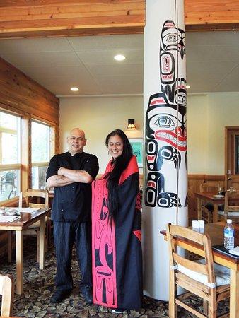 Tlell, Kanada: Chef Noel and lovely Aileen
