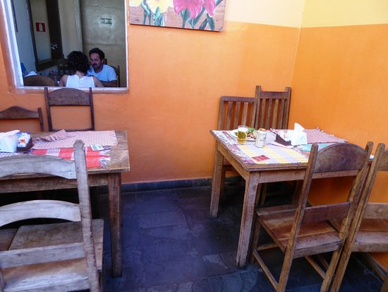 The restaurant has various seating areas, cozy ones and bigger ones for groups even.