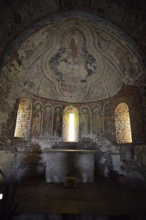 Martailly-lès-Brancion, France : à l'intérieur de la chapelle
