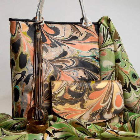 Clarkesville, GA: Hand Marbled & Hand Sewn, You don't get more one of a kind than that!