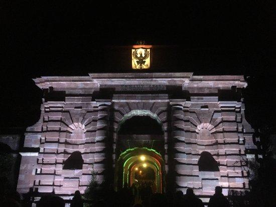 Wesel, Almanya: Nächtliche Illumination in der Kulturnacht