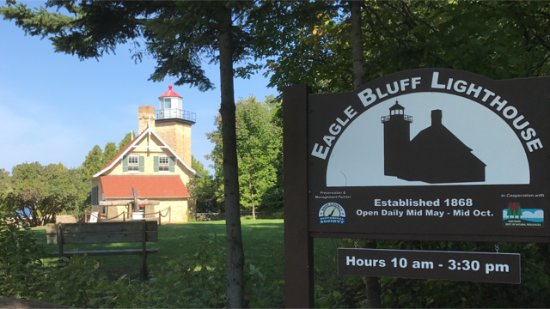 Fish Creek, WI: Eagle Bluff Lighthouse in Peninsula State Park Door County WI