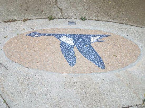 """Waubay, SD: Mosaic tile """"Blue Goose"""""""
