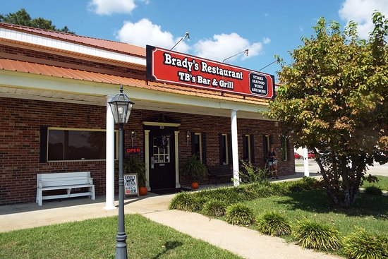 The sign still says Brady's though I think it is now called Cornerstone Grill of Cheraw.