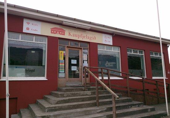 Breiddalsvik, Islandia: Eingang zum Cafe
