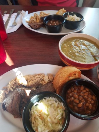 Bergland, MI: Our shared meal and a bowl of pea soup