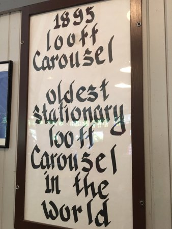 Pawtucket, RI: Sign telling about the Looff Carousel