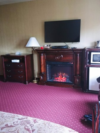 Hotel Seward: Fireplace