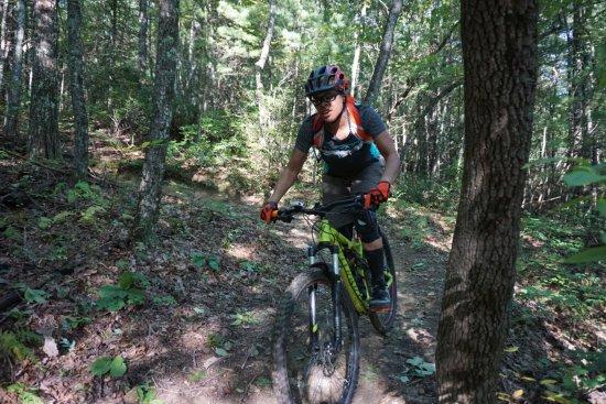 Brevard, NC: Single track riding after a berm