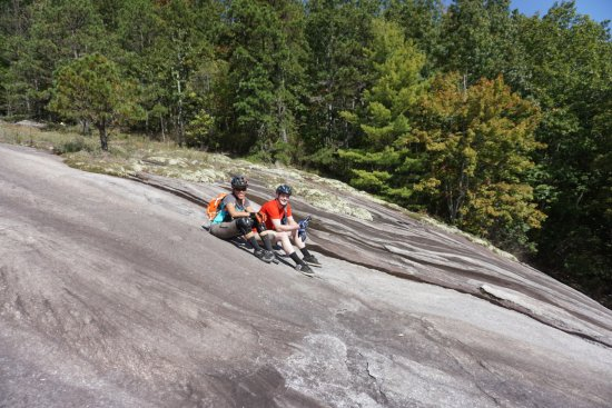 Brevard, NC: An awesome spot for slick rock riding that we didn't know about