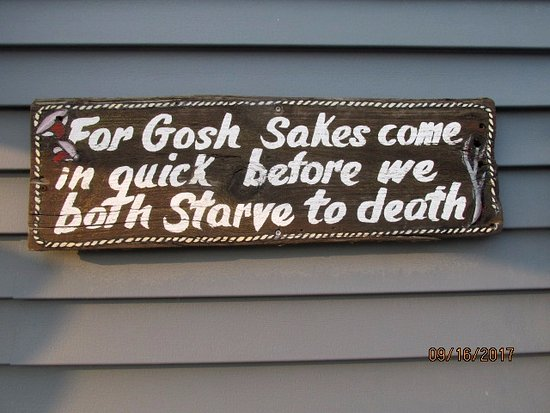 Bass Harbor, ME: Sign