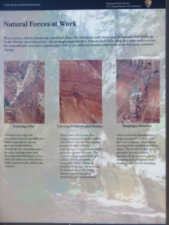 Cedar City, Utah: Interesting info about how the rock is carved by nature