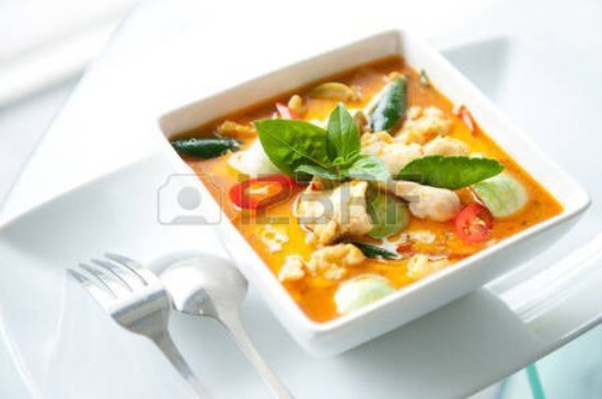 Cinderford, UK: Delicious chicken curry