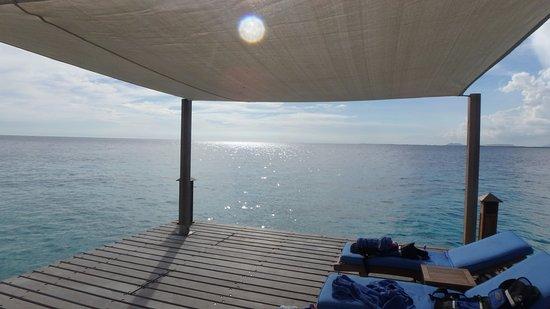 Bellafonte Luxury Oceanfront Hotel: The private pier