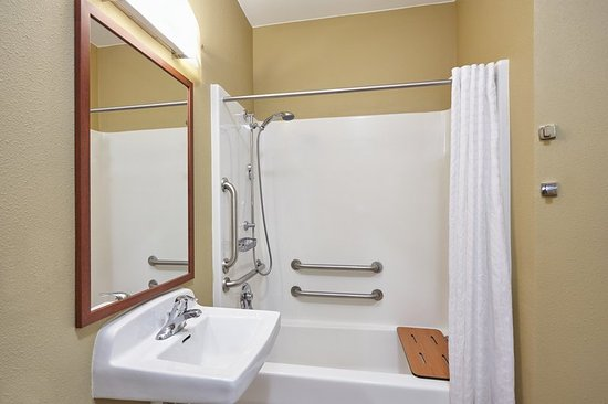 Aurora, IL: ADA/Handicapped accessible Guest Bathroom with mobility tub