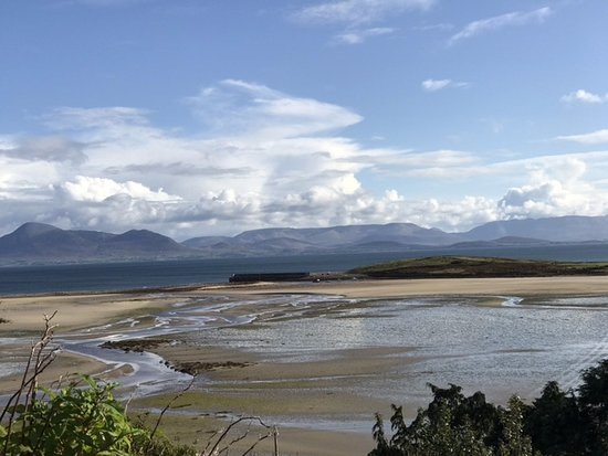 The bay by Mulranny from our bedroom window.