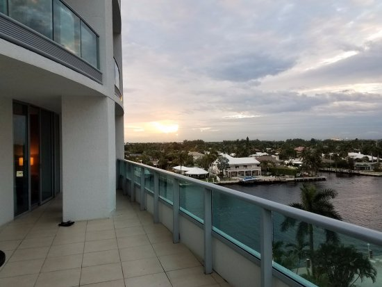 Residence Inn Fort Lauderdale Intracoastal/Il Lugano: Terrace!