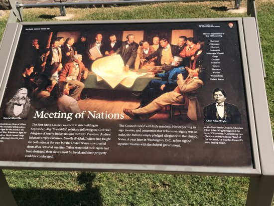 Meeting with many Indian tribes at Fort Smith after the Civil War