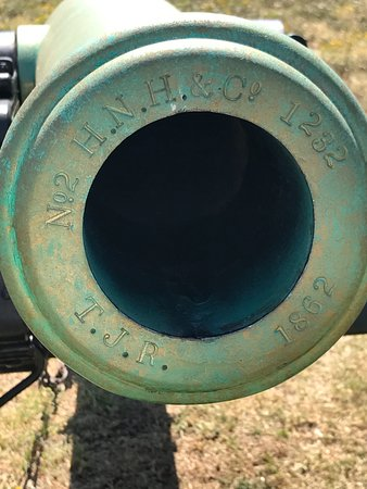 Fort Smith, AR: Original cannon barrels can be told by the date on the muzzle.
