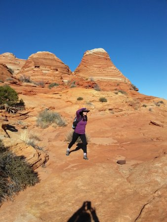 The Wave at Coyote Buttes: Hike in.