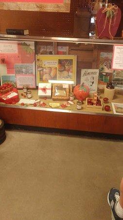 White Bear Lake, MN: Memorabilia display on the way into the store