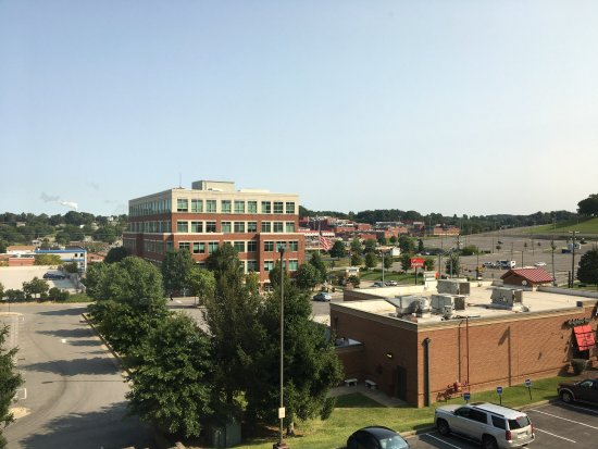 Morgantown, WV: View from 4th floor looking north; Applebees in foreground