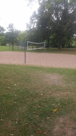 Shoreview, MN: A volleyball court with sand