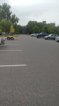 White Bear Lake, MN: The boat ramp and truck area