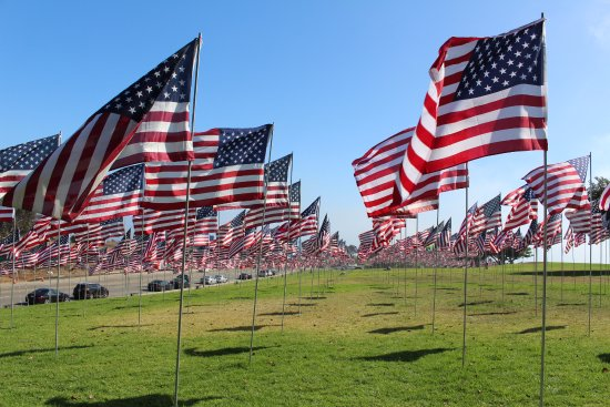 Pepperdine University: Amazing display of flags honoring victims of 9/11