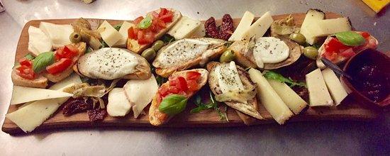 Ede, Pays-Bas : Een vegetarische antipasti plank