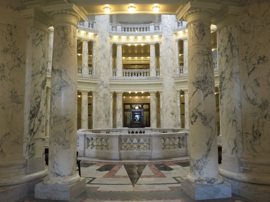 Idaho State Capitol Building Stunning Marble And Granite Interior
