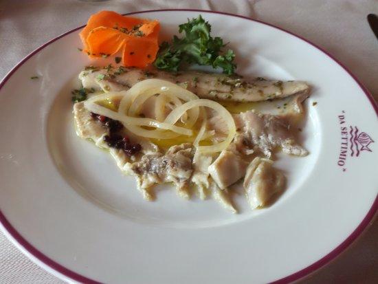 San Feliciano, Italië: filetti di coregone