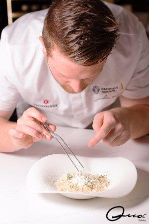 Baulkham Hills, Australia: Chef Joshua Mason at work