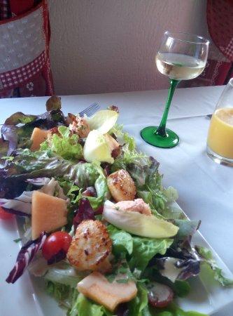Les salades sont généreuses