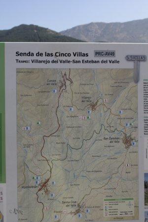Villarejo del Valle, Spain: Mapa Senda de las Cinco Villas