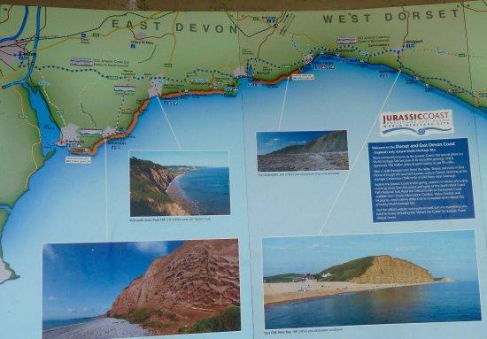Lyme Regis, costal map
