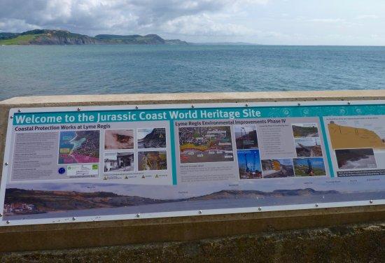 Lyme Regis, Jurassic coast billboard