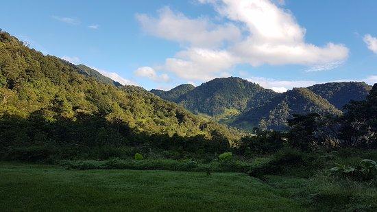 El Silencio Lodge & Spa: vue de notre emplacement sous le soleil