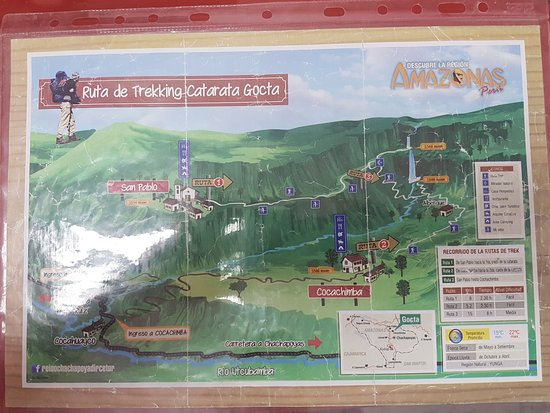 Valera, Peru: Tourist map of Gocta trek