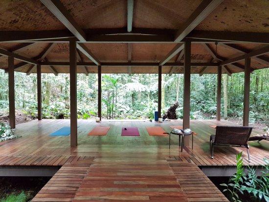 El Silencio Lodge & Spa: salle de yoga au niveau du spa : quelle ambiance !