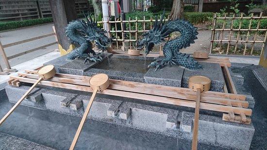 府中市, 東京都, 手水舎の龍