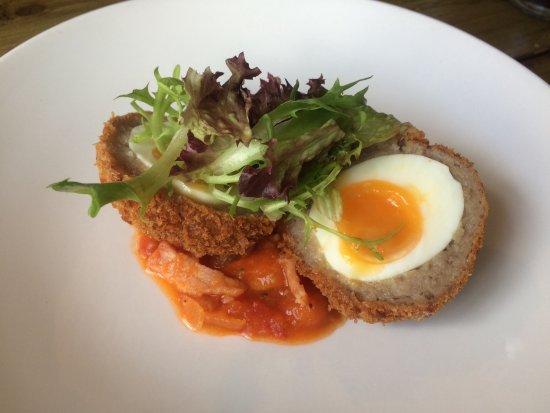 Brading, UK: Homemade scotch egg starter