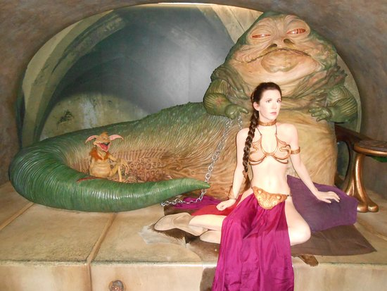 photo1.jpg - Picture of Madame Tussauds London, London ... Jabba The Hutt And Leia