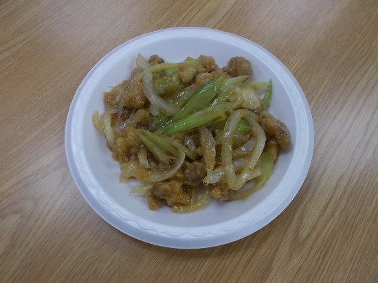 โอแคลร์, วิสคอนซิน: Golden Dragon Chinese Restaurant, Eau Claire. Garlic chicken