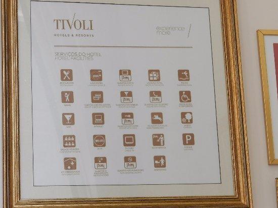 Tivoli Palácio de Seteais: Serviços do hotel