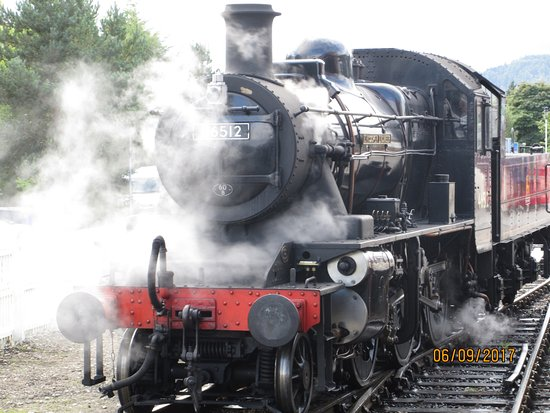 Aviemore, UK: The railway engine