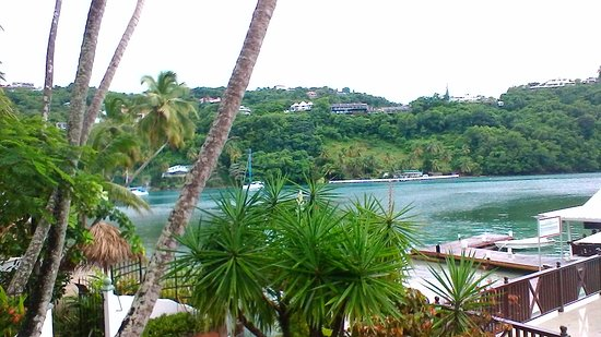 Marigot Beach Club and Dive Resort: View from our 'Beachfront Deluxe Room'